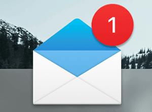 Notificatie e-mail nieuw bericht met toegangscode om in te loggen voor het auto theorie-examen